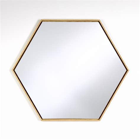 Mirror This by Lina Hexagon Mirror Oak