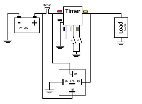 time delay relay diagram 24 wiring diagram images