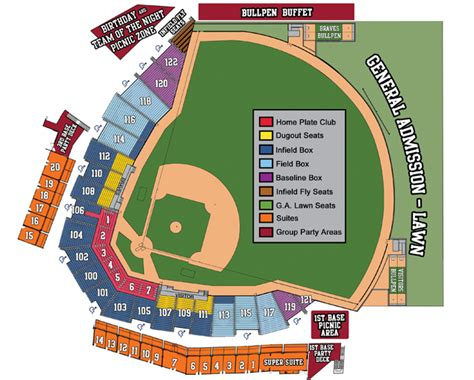 coolray field seating chart gwinnett braves coolray field