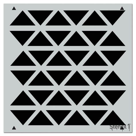 repeat pattern wall stencil stencil1 triangles flipped repeat pattern stencil s1 pa 59