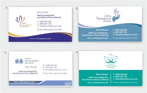 business card templates for psychologists playful business card design for kirsty by