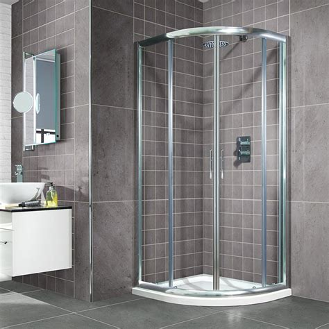 Shower Trays And Doors Aquafloe 800 X 800 Sliding Door Quadrant Enclosure With Shower Tray
