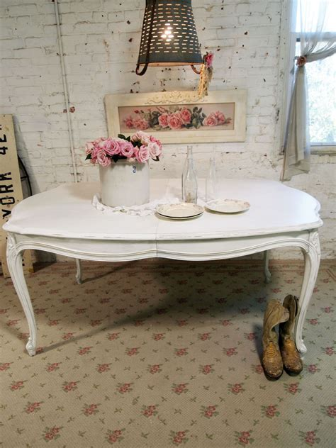 dining table white shabby chic dining table