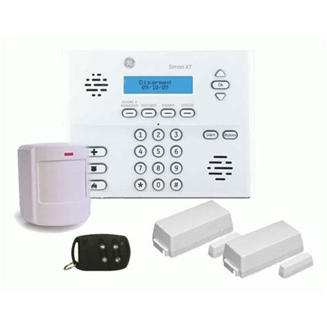 ge simon xt wireless security system package