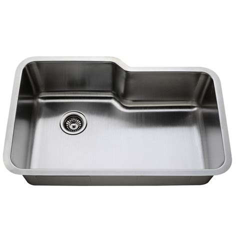 Less Care L108 32 Inch Undermount Stainless Steel Single Kitchen Sinks Stainless Steel Undermount