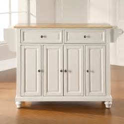 kitchen islands at lowes shop crosley furniture 52 in l x 18 in w x 36 in h white