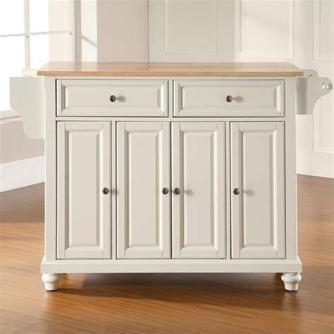 kitchen island lowes shop crosley furniture 52 in l x 18 in w x 36 in h white kitchen island at lowes