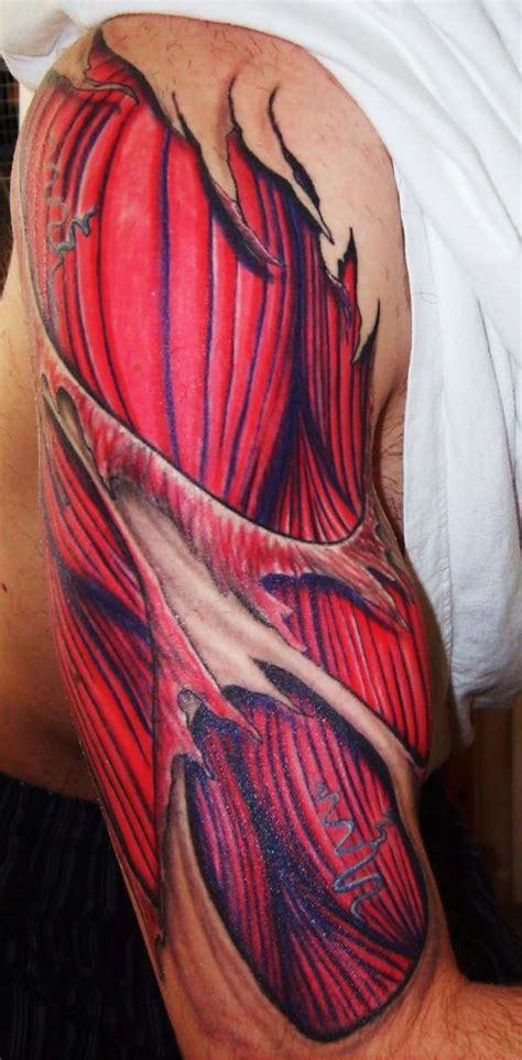 tattoo arm muscle tattoo art anatomy tattoos