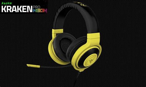 Razer Kraken Neon Yellow razer kraken pro neon yellow retractable microphone sound