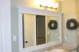 Diy Bathroom Mirror Frame Ideas by Full Of Great Ideas Framing A Builder Grade Mirror That