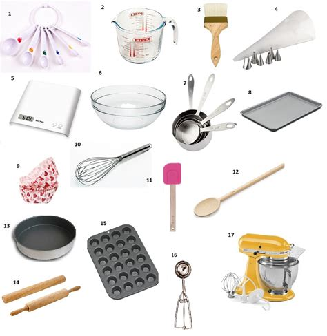 basic kitchen essentials baking tools and equipment
