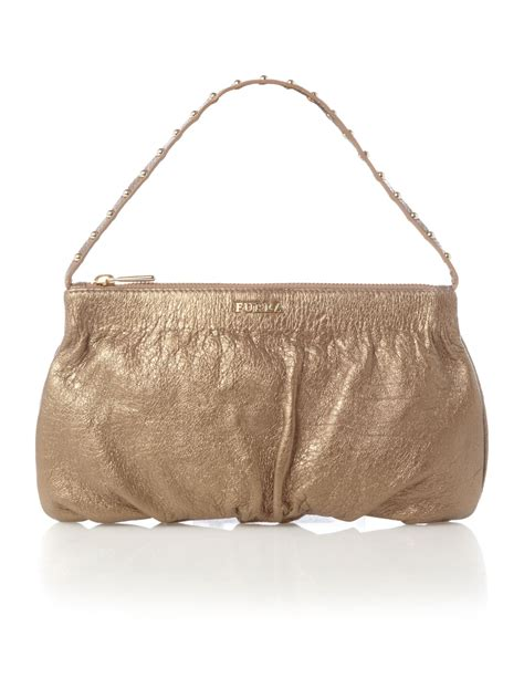 Jelly Chanelly Jelly Bag Gold by Furla Glitter Gold Jelly Crossbody In Metallic Lyst