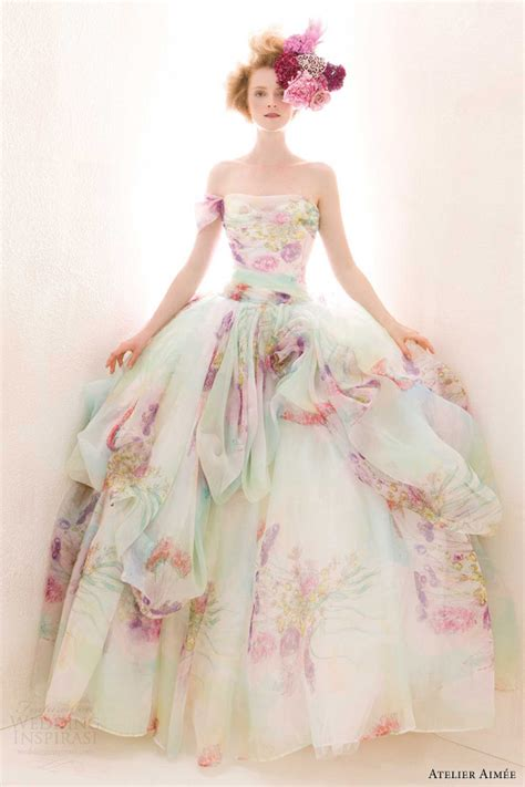 multi color wedding dress the bridal dress atelier aimee 2014 wedding dresses