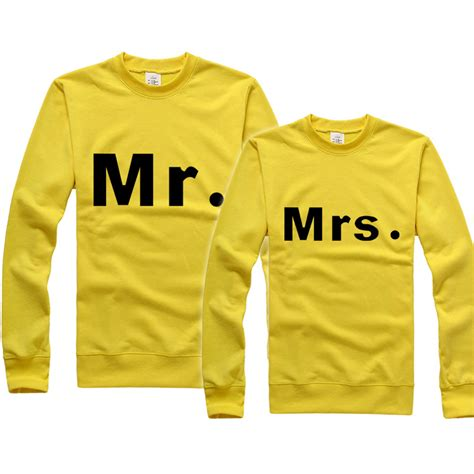 Unisex Shirts For Couples Couples Clothing Mr And Mrs Print Matching