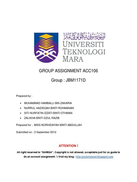 contoh cover letter uitm acc106 assignment debits and credits invoice