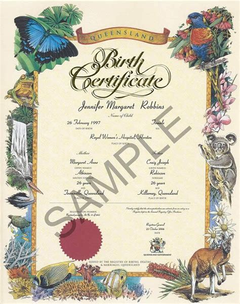 Queensland Birth Records Carolina Travel Information Dennis Manuel Birth Certificates Queensland