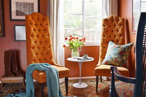 decorate  home  orange