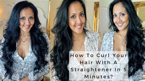 how to curl hair with straighteners flicks how to curl your hair with a straightener in 5 minutes