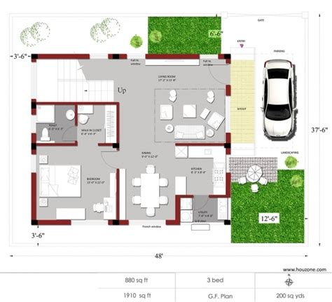 1500 square house plans indian house plans for 1500 square house floor plans