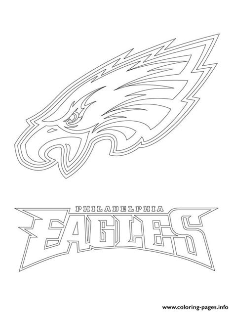 eagles football team coloring pages philadelphia eagles logo football sport coloring pages