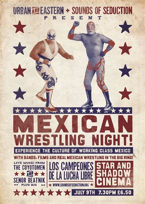 Mexican Wrestling Poster Mexican Design Pinterest Typography Spring And Inspiration Lucha Libre Poster Template