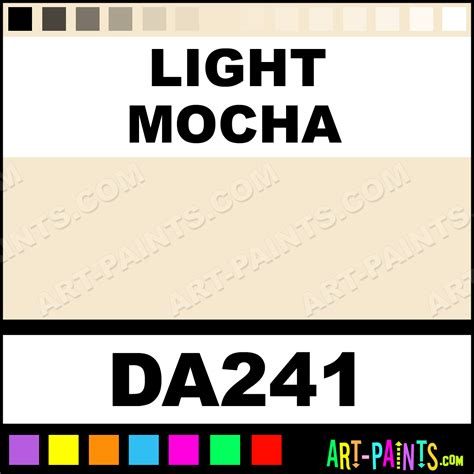 light mocha color light mocha decoart acrylic paints da241 light mocha