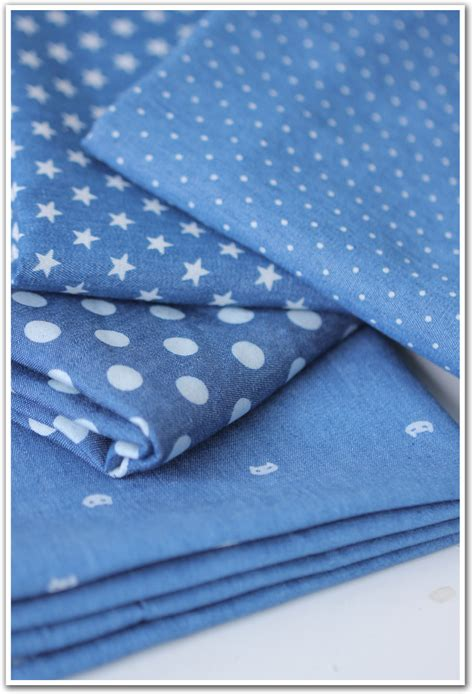 Denim Patchwork Fabric - 100 150cm cotton fabric thin 100 cotton indigo