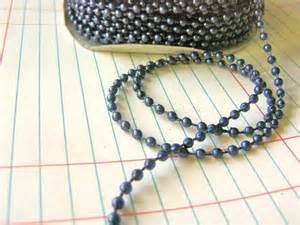 3mm round navy blue beaded garland 2 yards faux pearl bead