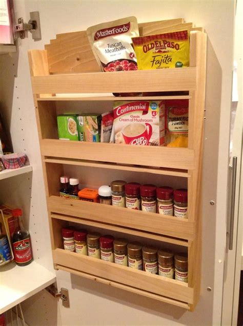 Spice Rack To Hang On Pantry Door by Poplar Spice Rack Designed To Hang On The Inside On The