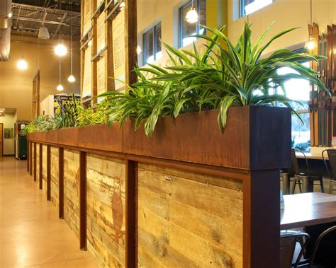 Commercial Indoor Planters by Accent Tables Kitchen With Bench Seats Pool