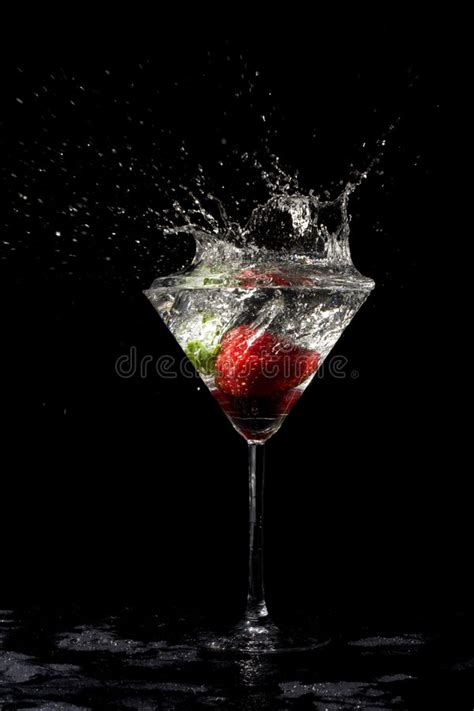 drink splash cocktail splash strawberry stock photo image of drop