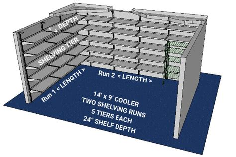 walk in cooler shelving build your walk in cooler freezer shelving system