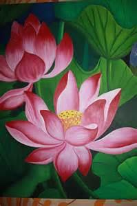 Lotus Painting Pink Lotus By Chandrakant Ekkirala