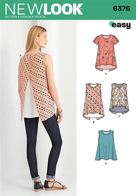 sewing pattern ladies top new look ladies easy sewing pattern 6376 crossover back t