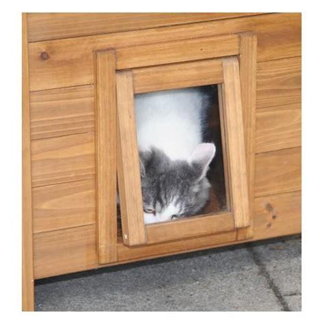 maisonnette pour chats en bois lodge accessoires pour le couchage du chat maison abri
