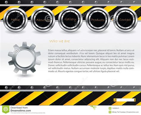 cool technology web template stock image image 14838541