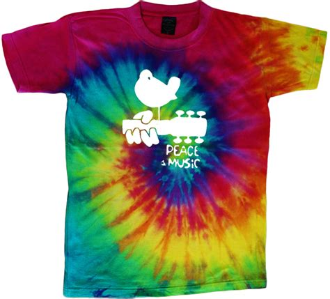 woodstock tie dye t shirt peace and shirt tie dyed