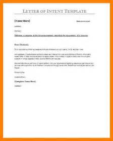 Construction Contract Letter Of Intent Exle Of A Letter Of Intent For A Simple Resume Template