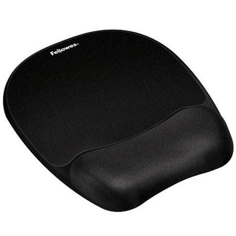 Mouse Pad Dengan Bantalan Gel Black fellowes memory foam mouse pad wrist rest black 9176501