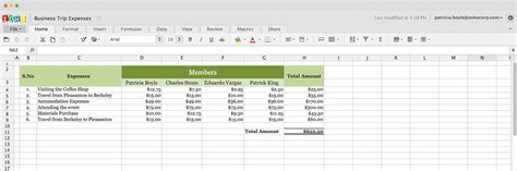 App For Spreadsheet by Office Apps Integrated With Zoho Mail