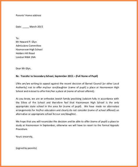 Appeal Letter For Graduate School Admission best solutions of sle appeal letter for secondary