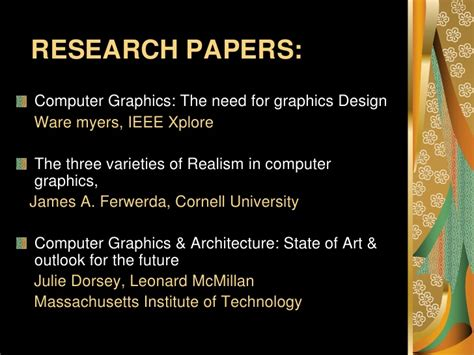 computer graphics research papers research papers computer graphics