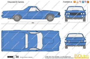 Draw To Scale Online the blueprints com vector drawing chevrolet el camino
