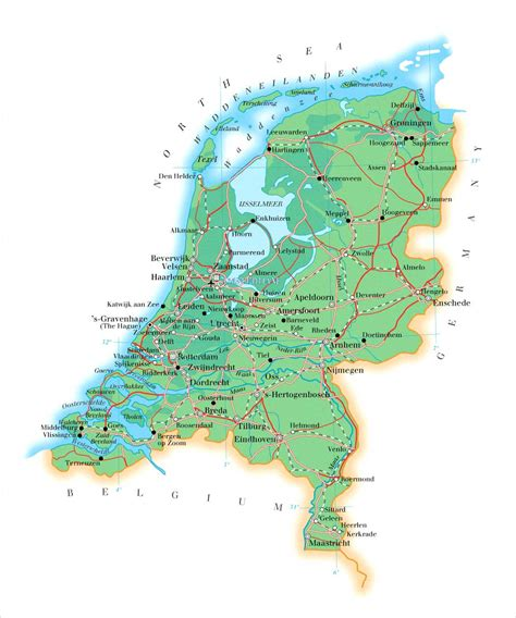 netherlands map hd map netherlands hd images travel pictures and travel guides