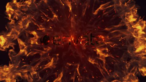 intense fire burn logo reveal fire after effects templates f5 design com