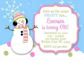 Snowman Party Invitations Free » Home Design 2017