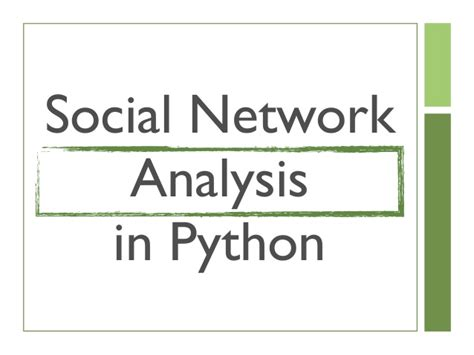 complex network analysis in python recognize construct visualize analyze interpret books social network analysis in python