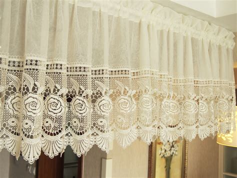 short lace curtains aliexpress com buy burnout lace curtain for kitchen and