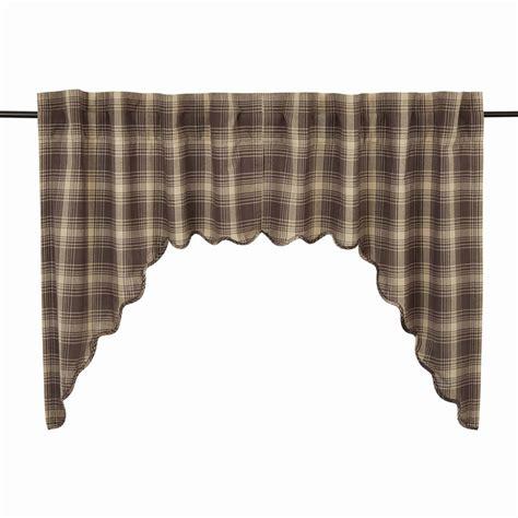 plaid swag curtains dawson plaid swag curtains pair www