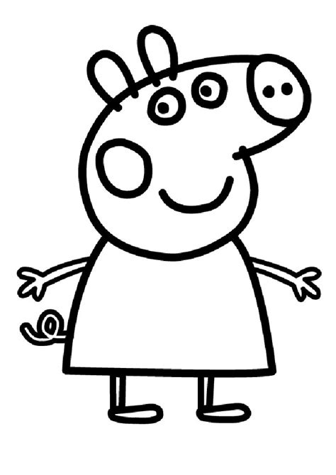 peppa pig drawing templates disegni di peppa pig da stare e colorare